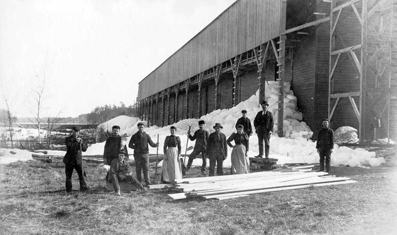 Lakes and ponds in the Poconos provided ice for many cities on the East Coast. This was an offshoot of the lumber industry when the splash dams froze for the winter.