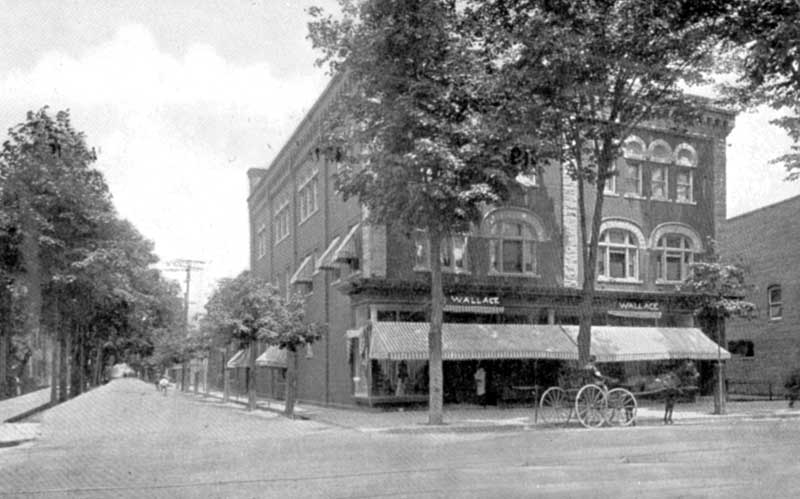 Wallace's Department Store, about 1910. It was on Main Street in Stroudsburg.