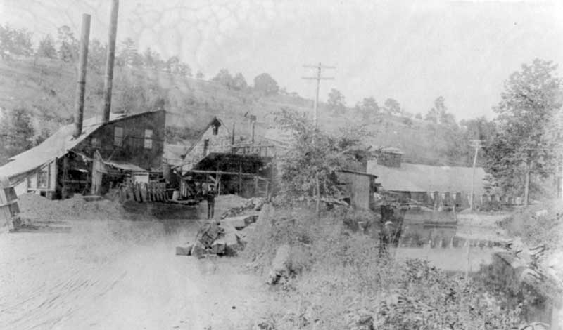 Old paper mill, about 1900. The timber industry was a mainstay of the Monroe County economy.