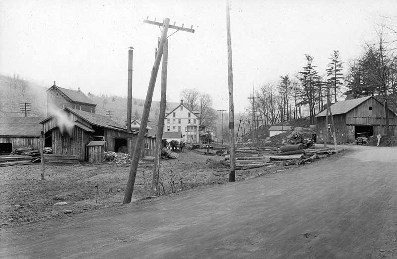Analomink Sawmill, owned by C.A. Coleman, circa 1926.