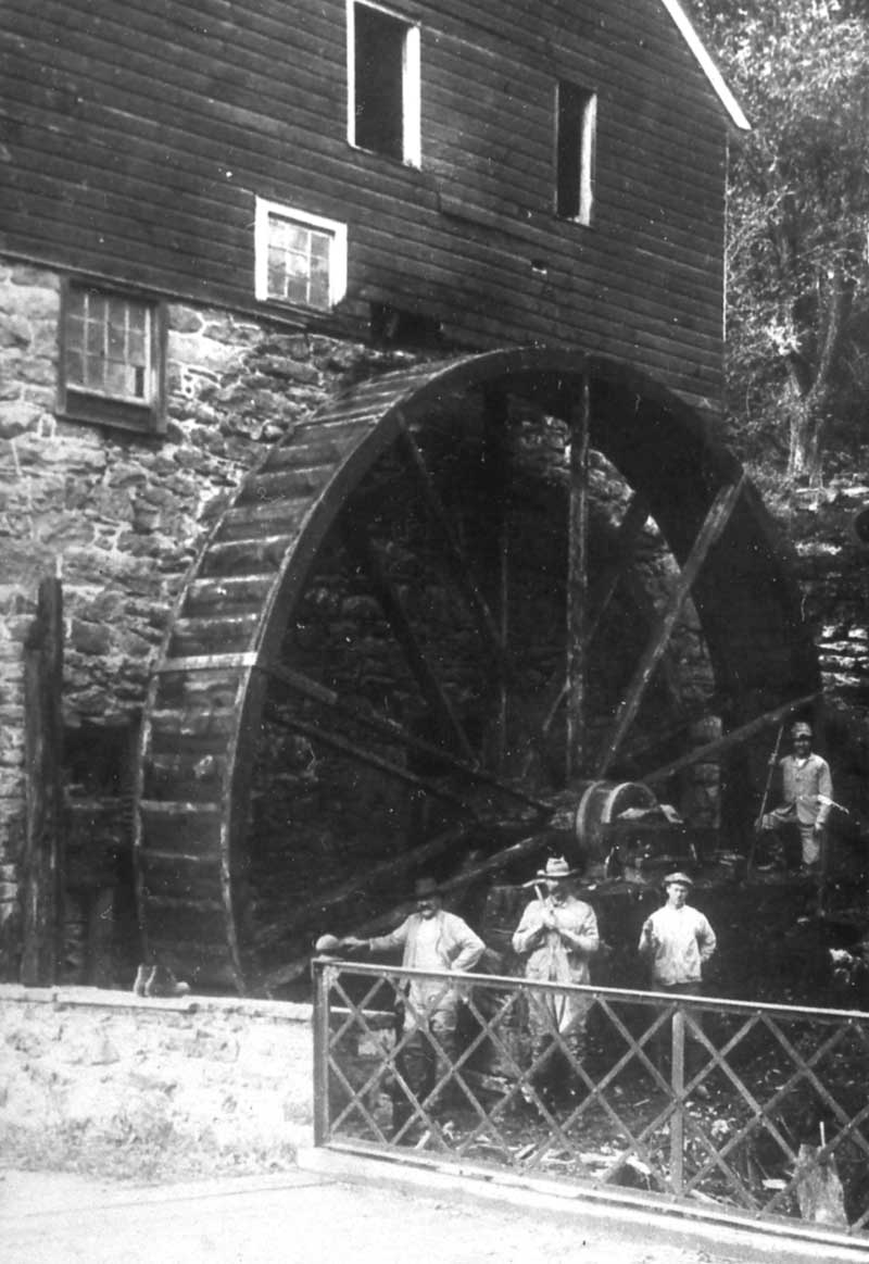 Col. John VanCampen operated a grist mill at Shawnee in 1758 and shipped flour via Durham boats to Philadelphia. Vestiges of the old mill are still visible.