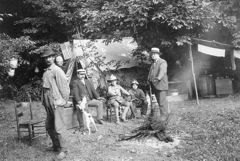 Campers at McMichaels Creek Biesecker's Camp in August 1903.