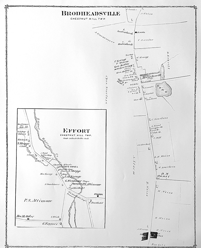 1875 Brodheadsville, Effort Map