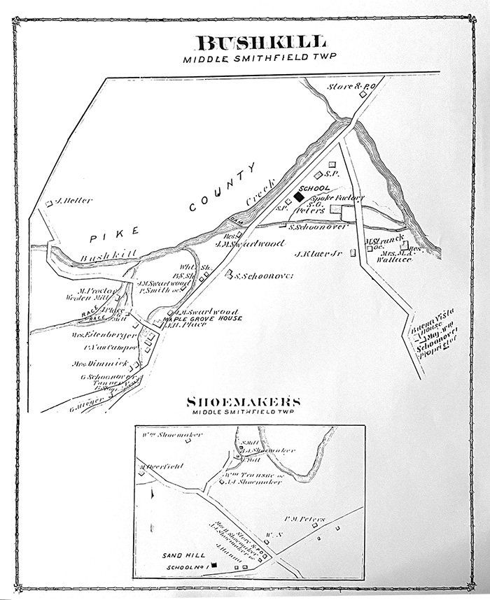 1875 Bushkill/Shoemakers Map