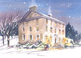 Stroud Mansion in Winter