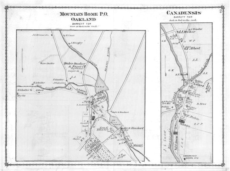 1875 Mountainhome, Canadensis Map