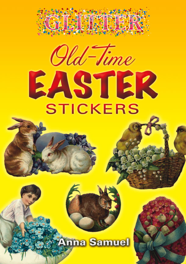 Glitter Old-Time Easter Stickers
