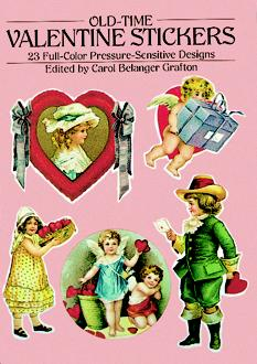 Old-Time Valentine Stickers