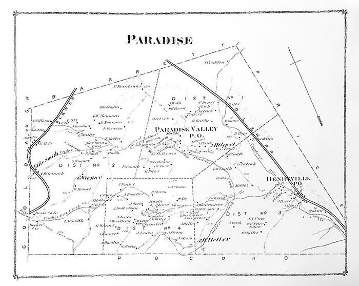 1875 Paradise Twp Map