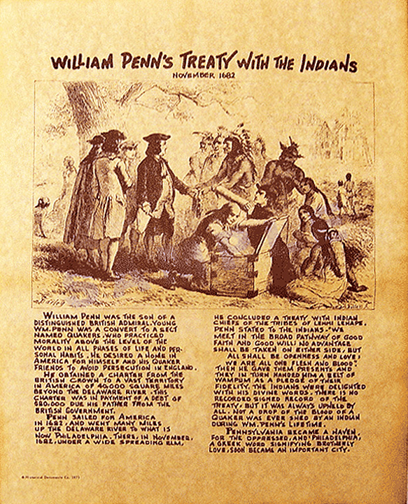 William Penn's Treaty with Indians 1682