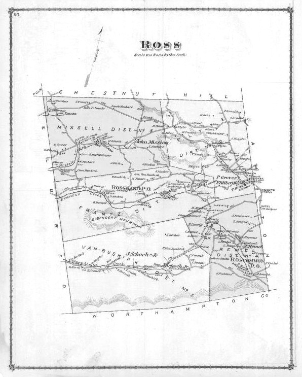 1875 Ross Twp Map