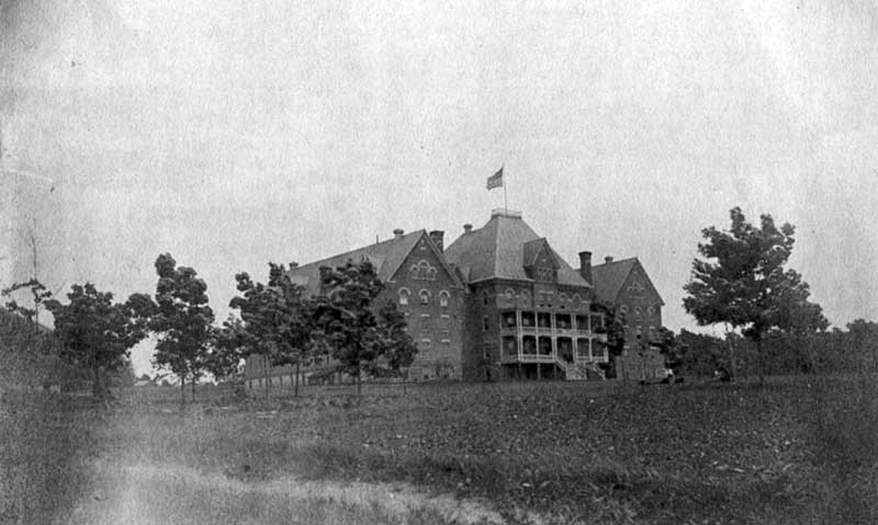 East Stroudsburg State Normal School in 1895. This was the original Stroud Hall, called Old Main.