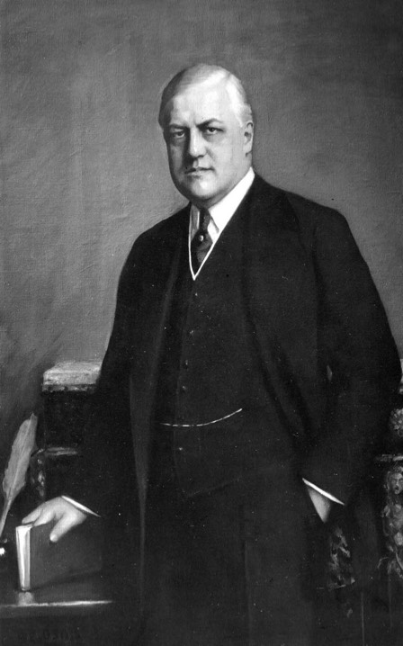 Portrait of A. Mitchell Palmer, 1872-1936. He practiced law in Stroudsburg before being elected to Congress, and then was U.S. attorney general under President Woodrow Wilson from 1919 to 1921. He declared himself a presidential candidate in 1920, but did not receive the nomination.
