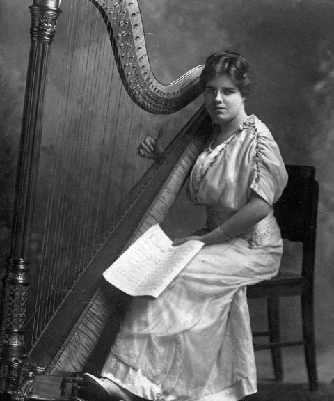 Ethel Dean West, a noted harp soloist, played for many leading orchestras, including the NBC Symphony of the Air and the New York Philharmonic.
