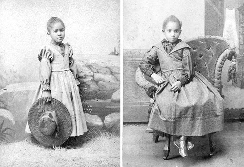 Sisters Florence Smith, left, about 6 years old, and Laura B. Smith, 8, lived in Stroudsburg.