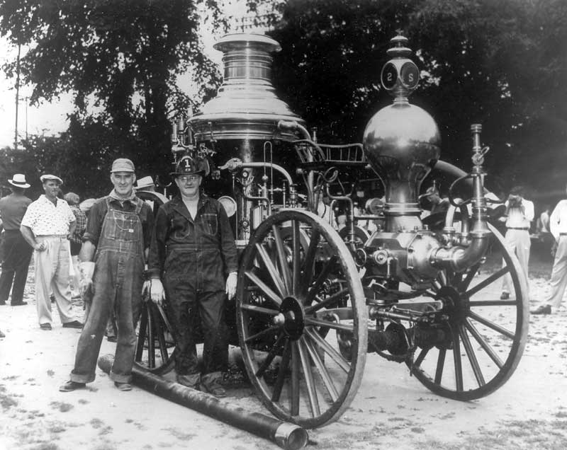 "Pocono No. 1 1871 Clapp and Jones steam fire engine, known as ""der mercheen,"" owned by Phoenix Fire Engine and Hose Company No. 2, Stroudsburg."