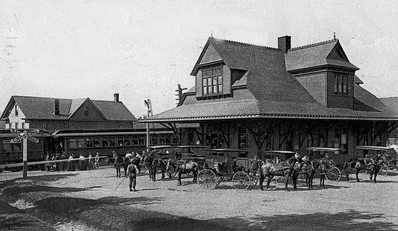 Lackawanna Railway Station, Mount Pocono, circa 1905.