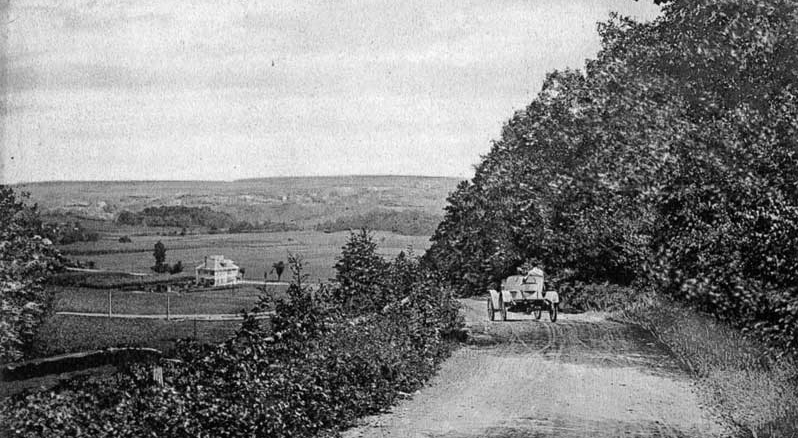 A view of Stroudsburg from Highland Dell Road.